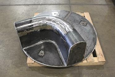90 degree Steel Manhole Invert